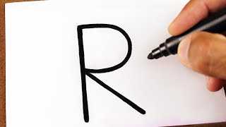 Como Transformar a Letra R em um RATO, Truques em Desenhos incríveis e fácil