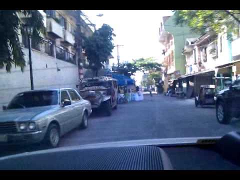 Driving down the streets of Sampaloc, Metro Manila, Philippines