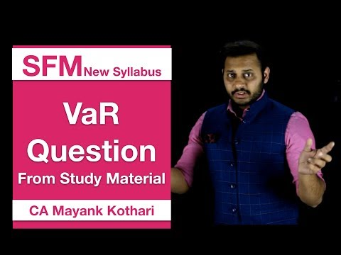 VAR Question From Study Material | SFM New Syllabus | CA Mayank Kothari