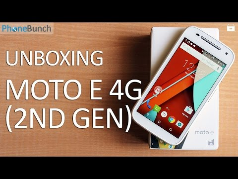 Moto E (2nd Gen) 4G India Unboxing and Hands-on Overview