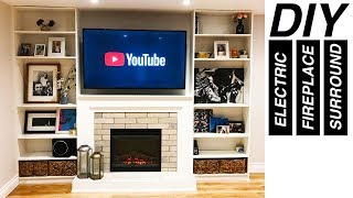 DIY Electric Fireplace Surround with Built-In Wall Unit