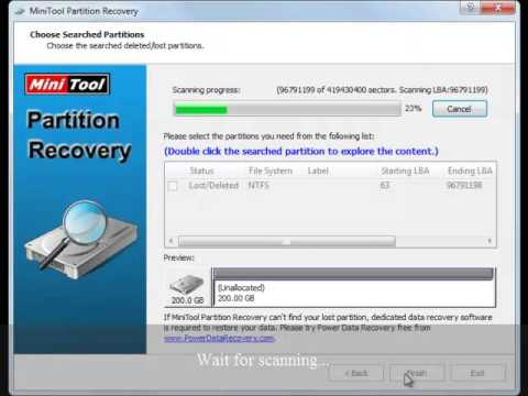 MiniTool Partition Recovery Full Scan Mode Recovers Lost Partitions