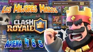 THE BEST SAND DECK 4 & 5 / CARDS / CLASH ROYALE / SPANISH