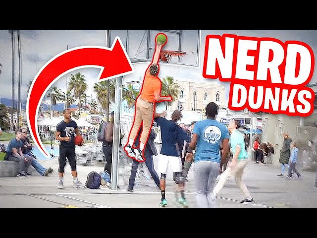Nerds Play Basketball in Venice! DUNK On Trash Talking Hoopers
