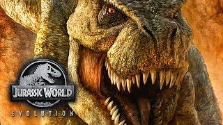 Это что? ТИРАНОЗАВР?! - Jurassic World Evolution