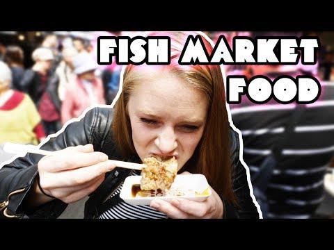 DELICIOUS Tokyo Fish Market Food Tour! (Tsukiji)