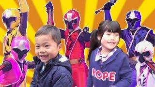 ニンニンジャーと握手してきました、こうくん&ねみちゃん♡2015年の戦隊...