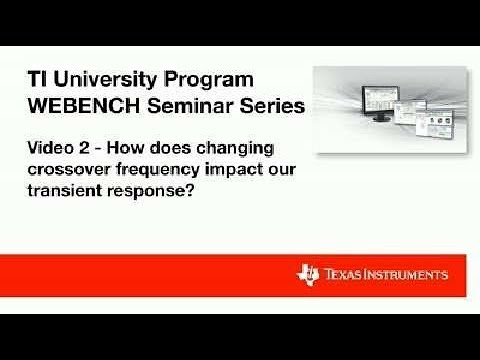Video 2 - How Does Changing Crossover Frequency Impact Our Transient Response?