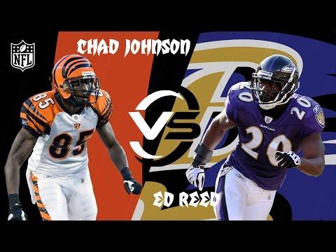 Bengals vs. Ravens: Chad Johnson vs. Ed Reed (Highlights)   2002 Week 10   NFL