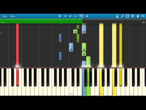 Genesis  Afterglow Piano Tutorial  How to play  Synthesia