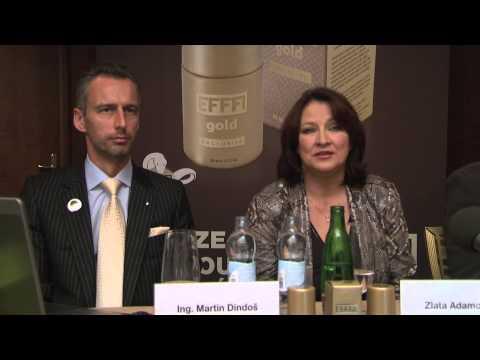 Zlata Adamovská na představení EFFFI gold EXCLUSIVE médiím