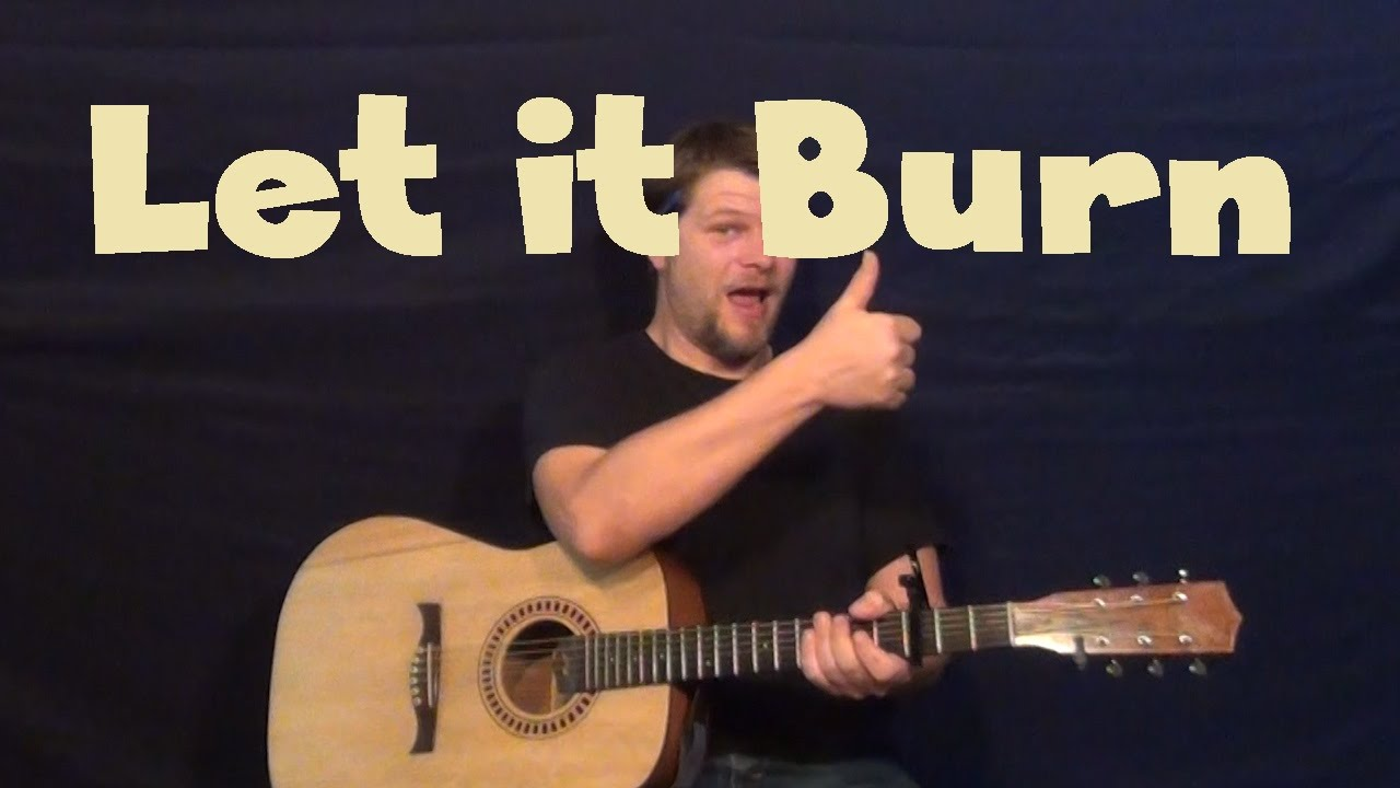 Let It Burn Red Easy Guitar Lesson How To Play Tutorial Youtube