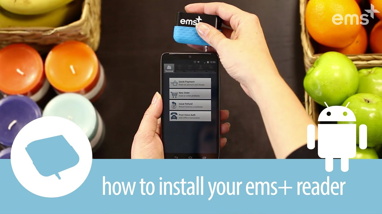 how to install your ems mobile credit card reader android - Credit Card Swiper For Android