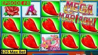 Pink Panther Lock It Link Mega Mariachi Slot Machine $25 Max bet Bonus | Season 8 | Episode #8