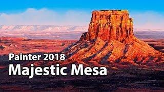 Majestic Mesa - Corel Painter 2018 Landscape Painting Course