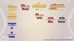 Learn German | Confusing Conjunctions (als - wie - as?) | Deutsch Für Euch 89