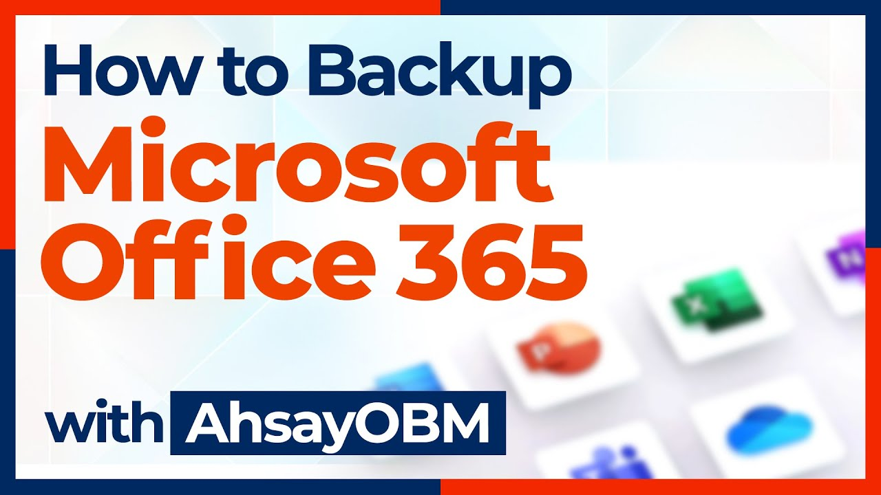 Office 365 Outlook, SharePont, OneDrive backup solution for