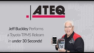 Reset a Toyota TPMS system in less than 30 seconds with the ATEQ VT56