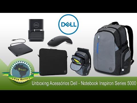 Unboxing Mochila Dell TEK mais Acessórios Dell - Notebook Inspiron 15 Series 5000 💻 [PT-BR]