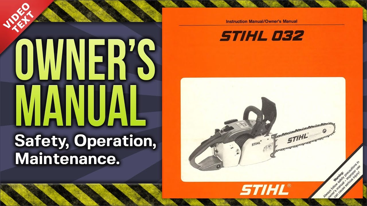 Stihl Instruction Manual Tractor Manuals & Publications