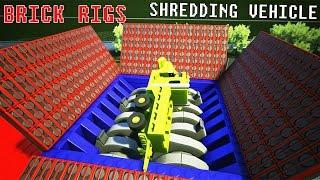 Shredding And Crushing Lego Vehicle   Brick Rigs