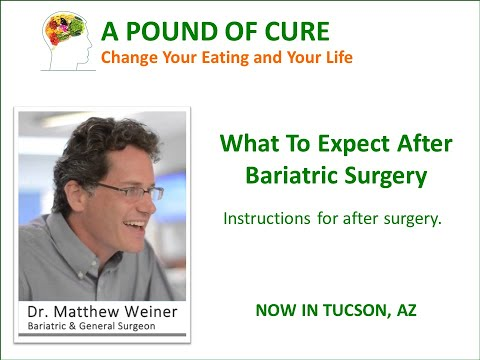 What To Expect After Bariatric Surgery by Dr. Matthew Weiner – Instructions After Surgery