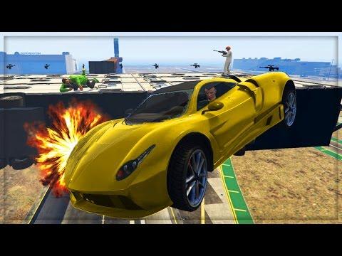 GTA 5 HOT WHEELS WIPEOUT GAME !!! | GTA 5 Custom Job Online (GTA 5 Online)