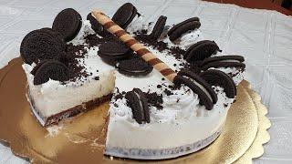 TORTA GELATO SEMPLICE E VELOCE DELIZIOSA (GELATO SENZA GELATIERA) | Icecream Oreo Cake