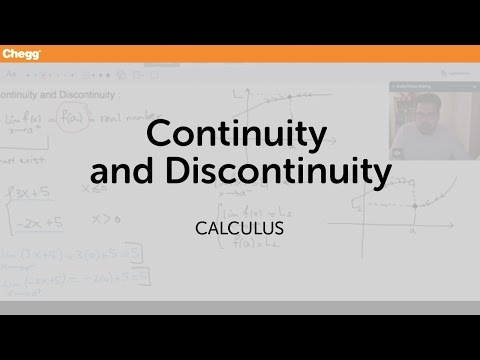 Continuity and Discontinuity | Calculus | Chegg Tutors