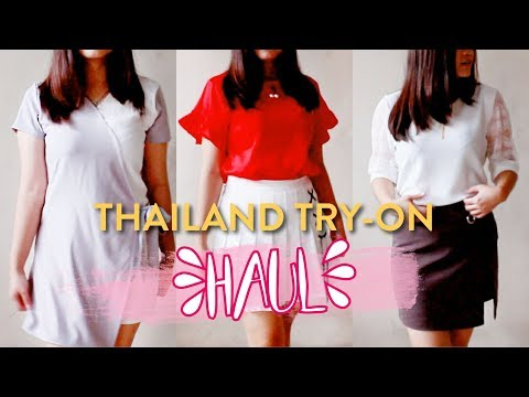 THAILAND TRY-ON HAUL | Snacks + Korean Style | Michelle Joanna