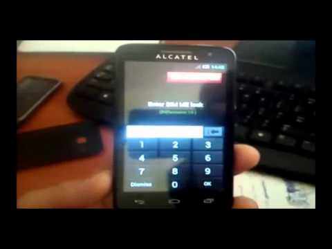 How To Unlock Alcatel OT-5020 One Touch M'Pop by Unlock Codes for Any  Carrier, Any Model
