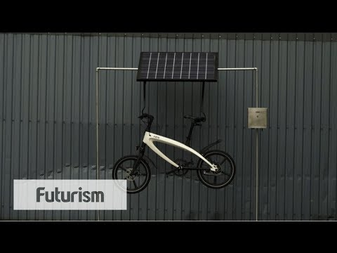 Solar Charged E-Bike Pedal Power