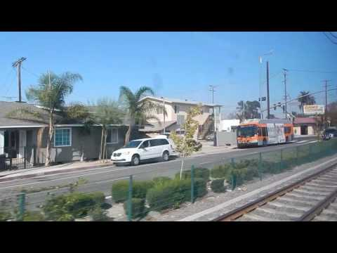 Metro Expo Line Riding to Downtown Los Angeles