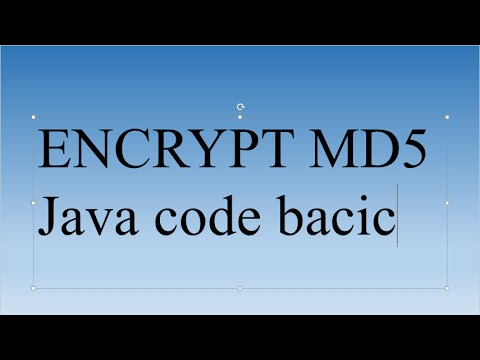 Encrypt string, text, ... to MD5 by java code