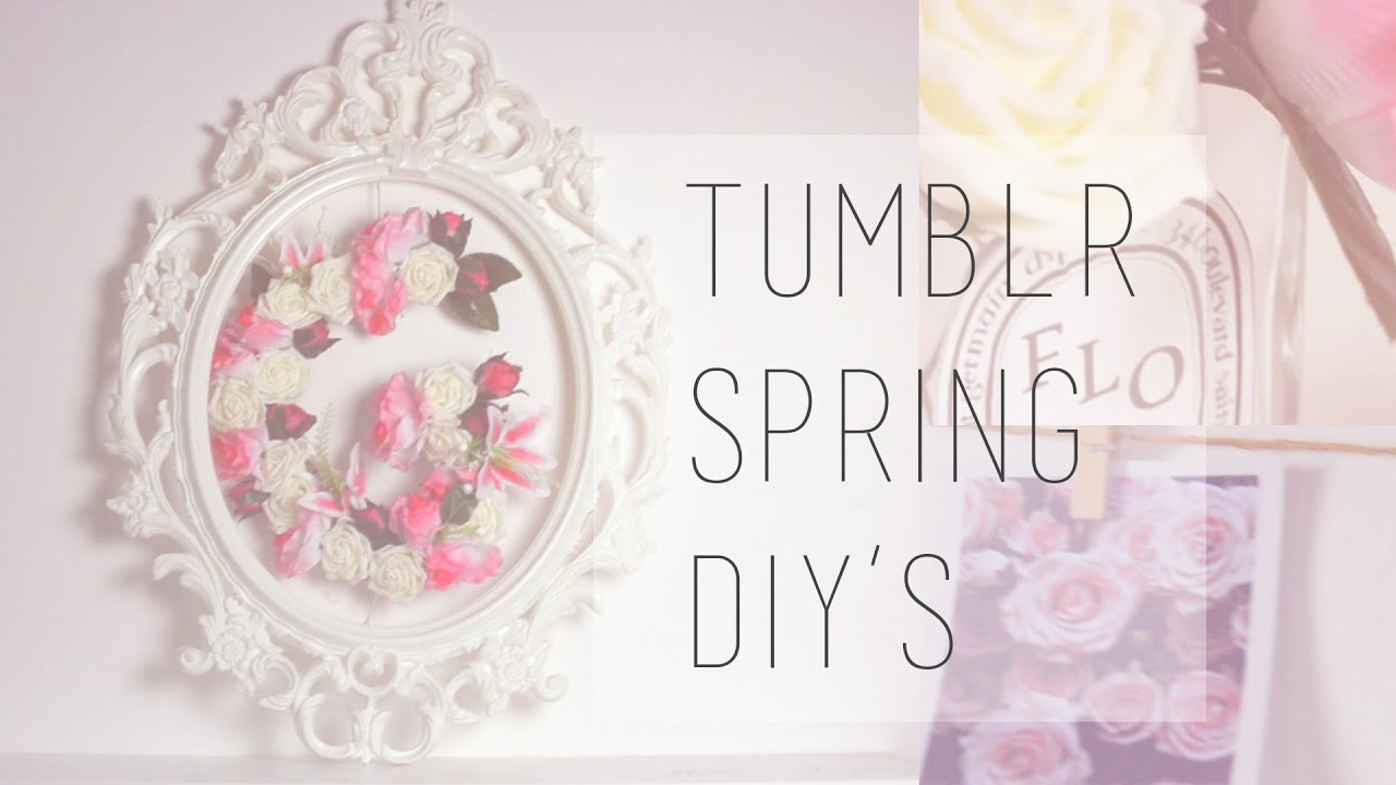 tumblr spring diy || room decor ita - youtube