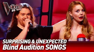 The most UNEXPECTED SONG choices in the Blind Audition of The Voice   The Voice 10 Years