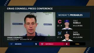 """Craig Counsell: """"He's doing superhuman things"""""""