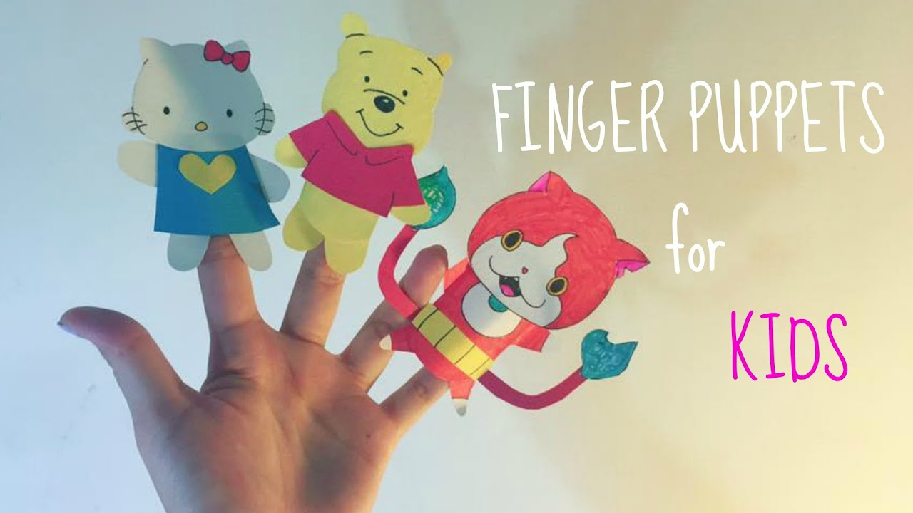 How To Make Paper Finger Puppets Easy Simple Kolay Parmak