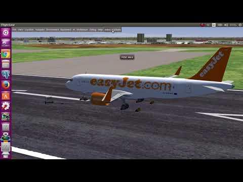 Flying with Airbus A320 from Tehran to Rasht (in Iran) using Flightgear simulator