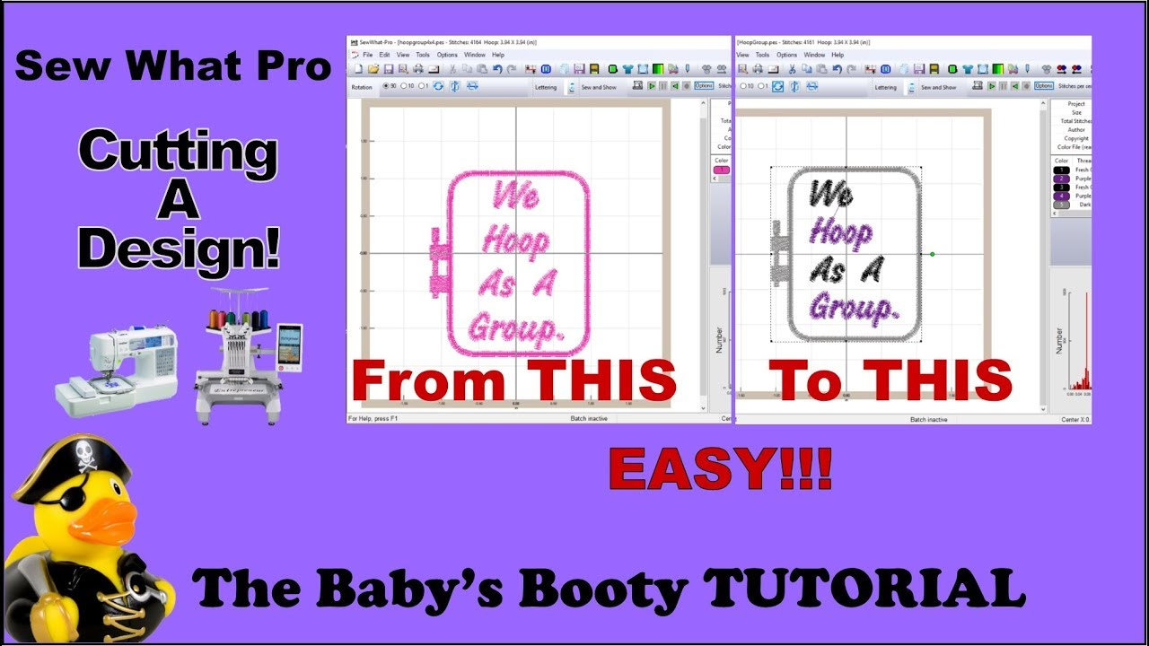 Sew What Pro Tutorial - Cutting Embroidery Designs EASY Step by Step