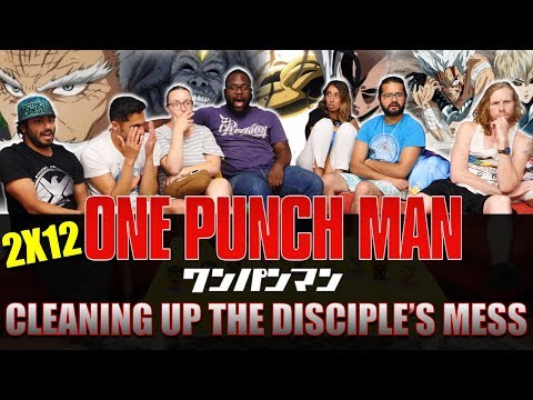 One Punch Man - 2x12 Cleaning Up The Disciples Mess - Group Reaction