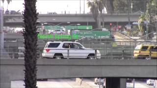 Four Bridges crossing Santa Ana Freeway in Los Angeles 03/May/2014 サンタ・アナ・フリーウェイ、ロサンゼルス