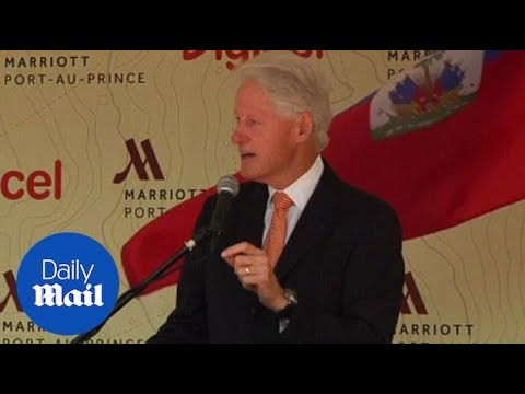 Bill Clinton speaks at Haiti hotel opening during charity trip - Daily Mail