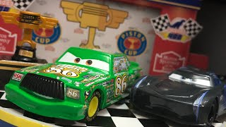 Disney Pixar Cars Accurate Chick Hicks With Piston Cup & Jackson Storm With Rubber Tires ~ SH Series