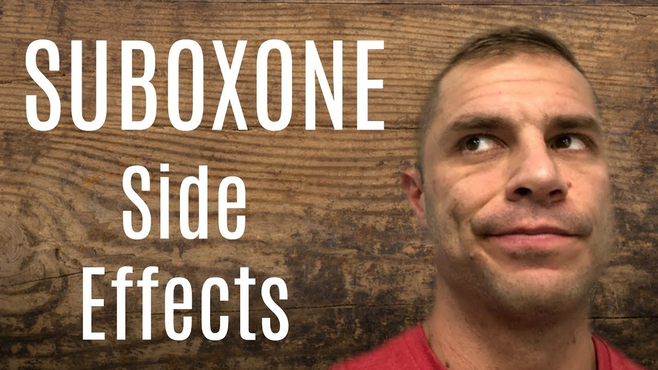 Suboxone side effects sexual dysfunction