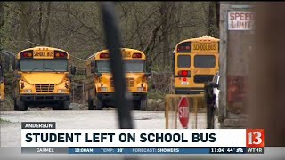 Child left on school bus after route