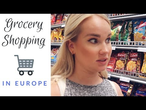 Grocery Shopping in Europe (Riga, Latvia Travel Vlog)
