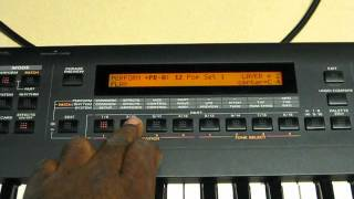 Roland XP-30 Creating a Split and Saving