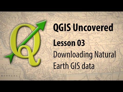 QGIS lesson 03 – Downloading Natural Earth data