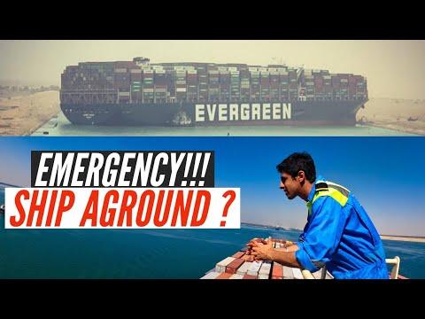EMERGENCY!!!  Ship Aground In SUEZ CANAL